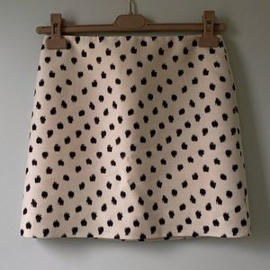 J. Crew black polka dot skirt